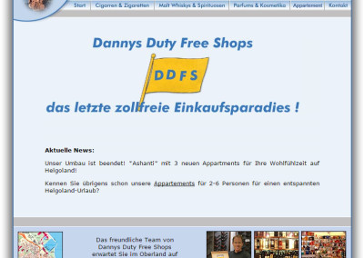 Screenshot Dannys Duty Free Shops