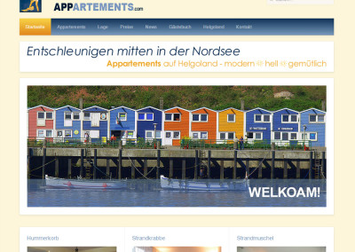 Screenshot Helgoland Appartements